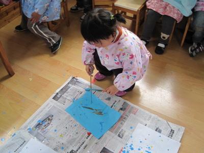好玩的牙刷画 _转自幼儿园博客_王晨亦