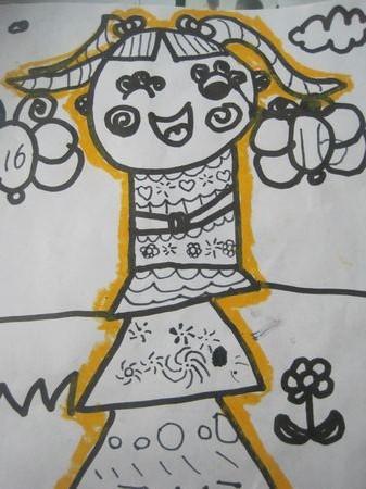 我的自画像_转自幼儿园博客_王晨亦